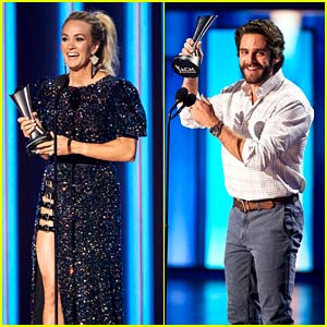 Carrie Underwood & Thomas Rhett Both Win Entertainer of the Year in First-Ever Tie at ACM Awards 2020!