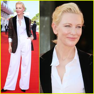 Cate Blanchett Wears Sparkling Blazer for Latest Venice Film Festival Red Carpet Appearance!