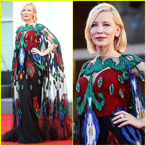 Cate Blanchett Looks Gorgeous in Peacock Dress at Venice Film Festival's Closing Ceremony!