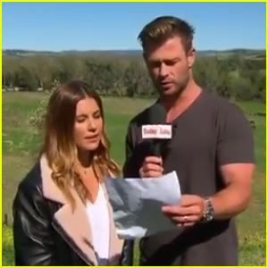 Chris Hemsworth Crashes a Weather Report in Australia