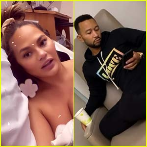 Chrissy Teigen Hospitalized for Excessive Bleeding During Pregnancy, Updates Fans from Hospital Bed