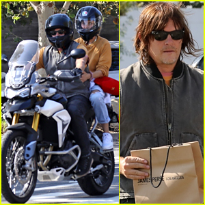 Diane Kruger & Norman Reedus Ride His Motorcycle During a Shopping Trip