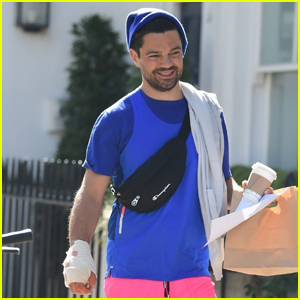 Dominic Cooper Wears Bandages on His Hand During Day Out in London