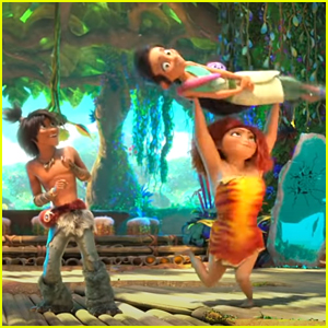 Eep Picks Up & Spins Her New Girl Friend Around in 'Croods 2' Trailer - Watch!