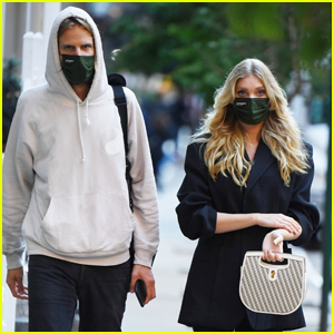 Elsa Hosk Conceals Her Baby Bump While Out in NYC with Boyfriend Tom Daly