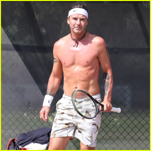 Gavin Rossdale Works Up a Sweat During a Tennis Session