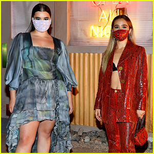Haley Lu Richardson Wears Spiked Face Mask To 'Unpregnant' Drive-In Premiere With Barbie Ferreira