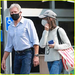 Harrison Ford & Calista Flockhart Step Out Together to Do Some Food Shopping