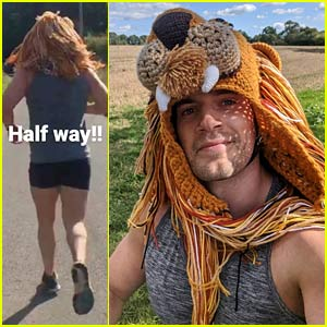 Henry Cavill Goes Running in a Lion Hat for the Durrell Challenge