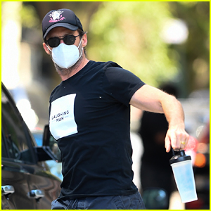 Hugh Jackman Hits The Gym While Preparing For 'Music Man' With Virtual Dance Classes