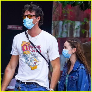 Jacob Elordi Meets Up with 'Euphoria' Co-Star Maude Apatow for Lunch in NYC