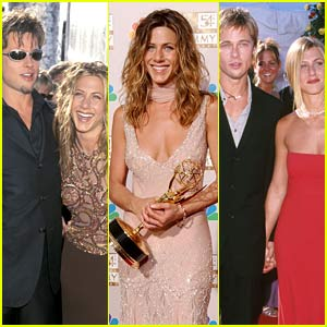 Emmys Fashion: See All of Jennifer Aniston's Red Carpet Moments, Including 4 Years with Brad Pitt!