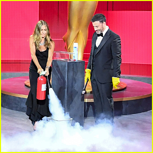 Jennifer Aniston Puts Out Fire On Stage After Presenting at Emmy Awards 2020