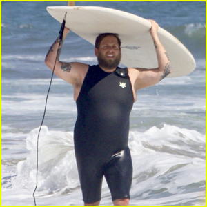 Jonah Hill Catches a Wave During a Surf Session in Malibu
