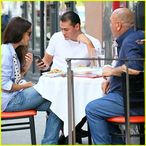 Katie Holmes & Boyfriend Emilio Vitolo Jr. Eat an Early Dinner with His Dad