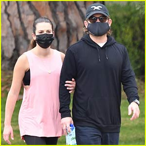 Lea Michele Spotted on a Walk with Husband Zandy Reich After Giving Birth