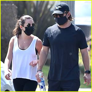 Lea Michele & Zandy Reich Kick Off Their Week with a Walk