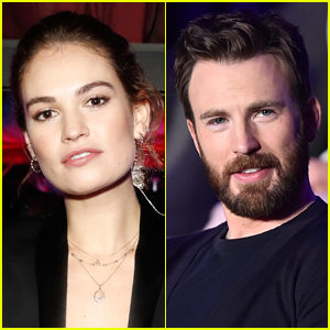 Lily James Won't Reveal If She's Dating Chris Evans
