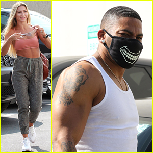 Nelly Shows Off Massive Muscles at Dance Practice With Daniella Karagach