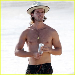 Patrick Schwarzenegger Looks Fit Going Shirtless at the Beach!