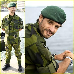 Sweden's Hot Prince Carl Philip Looks So Good in His Camo Uniform
