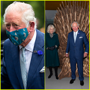 Prince Charles Wears a Mask, Poses In Front of 'Game of Thrones' Wrap Party Throne!