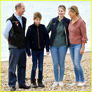 Prince Edward & Countess Sophie Make Rare Appearance With Their Children For The Great British Beach Clean Event