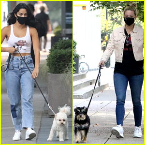 Camila Mendes & Lili Reinhart Walk Their Dogs Ahead of Lili's 24th Birthday