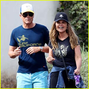 Longtime Friends Rob Lowe & Maria Shriver Spotted On a Walk in Montecito