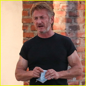 Sean Penn Shows Off His Muscles on Set of New Movie