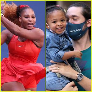 Serena Williams Gets Support from Daughter Olympia & Husband Alexis Ohanian at U.S. Open 2020!