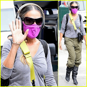 Sarah Jessica Parker Wears a Pink Mask During an Outing in NYC