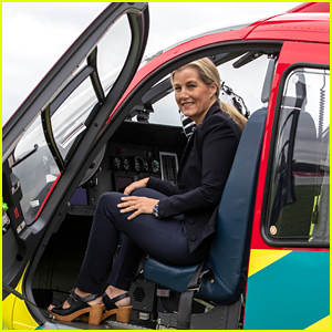 Sophie, Countess of Wessex, Returns To Air Ambulance Which Helped Save Her From Pregnancy Emergency