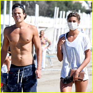 Taylor Hill Walks the Beach with Shirtless Daniel Fryer in Venice!