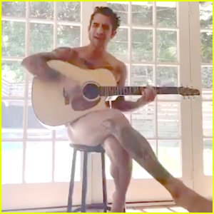 Tyler Posey Plays Guitar In The Buff To Announce He's On OnlyFans