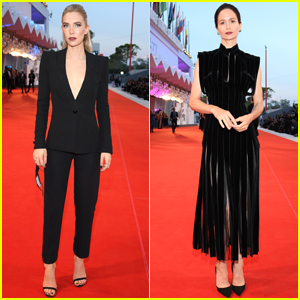 Vanessa Kirby & Katherine Waterston Go Cool in Black for 'The World to Come' Premiere at Venice Film Fest