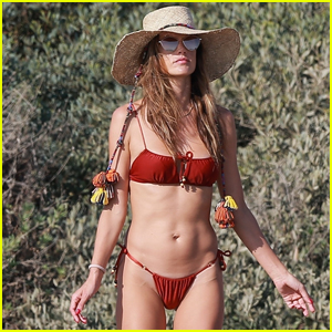 Alessandra Ambrosio Bares Her Abs During Day at the Beach!