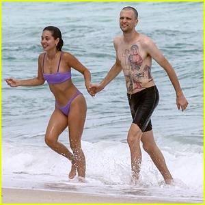 Alexa Demie Rocks Cute Purple Bikini At The Beach With Boyfriend JMSN