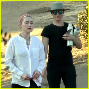 Amber Heard & Girlfriend Bianca Butti Head Out for a Hike in L.A.