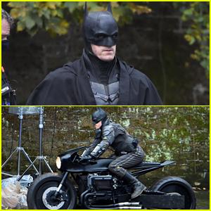Batman's Suit & Motorcycle Photographed on 'The Batman' Set!