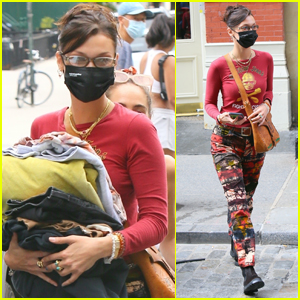 Bella Hadid Does Some Shopping at Black Lives Matter Charity Event in NYC