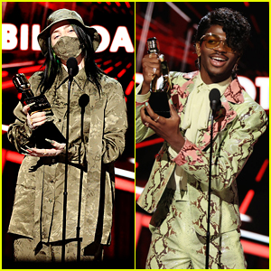 Billie Eilish & Lil Nas X Pick Up Awards at BBMAs 2020, Both Wearing Gucci!