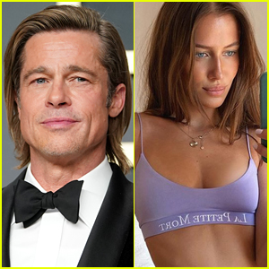 Brad Pitt Nicole Poturalski Haven T Seen Each Other In Months Source Calls Relationship A Fling Brad Pitt Nicole Poturalski Just Jared