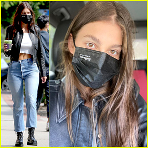 Camila Morrone Wears Her I Am a Voter Mask, Reveals Who She Voted For