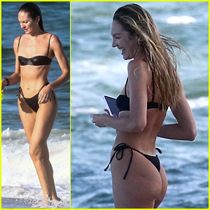 Victoria's Secret Angel Candice Swanepoel Soaks Up the Sun In Her Bikini