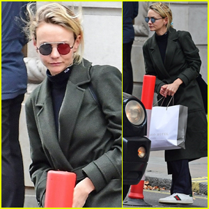 Carey Mulligan Heads Out Following Lunch with Friends in London