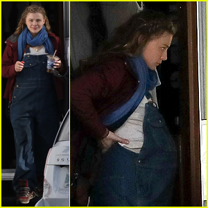 Chloe Moretz Seen With Baby Bump on 'Mother/Android' Set!