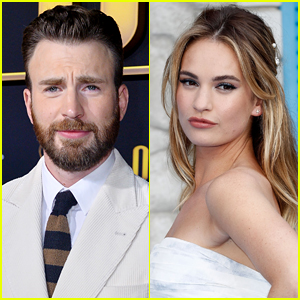 Here's What Lily James Said When Asked About Chris Evans