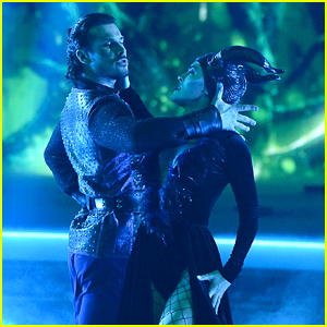 Chrishell Stause Dresses Up as Maleficent, Earns Her Best Score Yet on 'DWTS' - Watch Now!