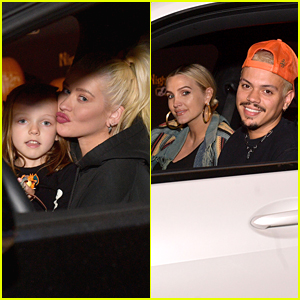 Christina Aguilera, Ashlee Simpson & Evan Ross Kick Off Spooky Season at Nights of The Jack Drive Thru Event